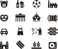 Значки символизируя Германию Стоковая Фотография RF