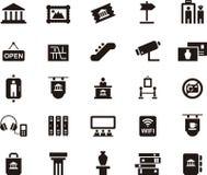 Значки символизируя музей и искусство Стоковое фото RF