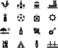 Значки символизируя Португалию и Лиссабон Стоковое Изображение RF
