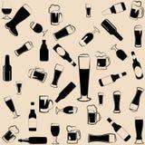 Значки, символы и элементы пива Стоковое Изображение RF