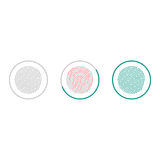 Значки скеннирования отпечатка пальцев изолированные на белой предпосылке Биометрический символ утверждения также вектор иллюстра Стоковые Изображения