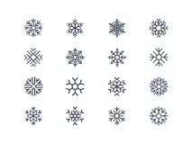 Значки снежинки Стоковые Фото
