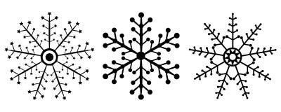 Значки снежинки Стоковая Фотография RF