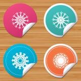 Значки снежинок художнические Кондиционер Стоковые Изображения RF