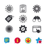 Значки снежинок художнические Кондиционер Стоковая Фотография RF