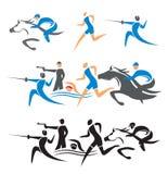 Значки современного Соревнования Античных Олимпийских игр Стоковое фото RF
