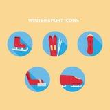 Значки спорта зимы Стоковое Фото