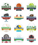 Значки спорта - комплект Стоковые Изображения