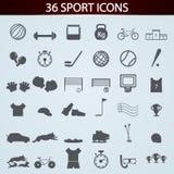 Значки спорта установленные для дизайна Стоковое фото RF