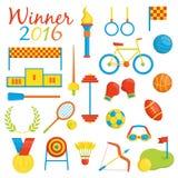 Значки спорт Рио-де-Жанейро тематические бесплатная иллюстрация