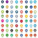 Значки средств массовой информации сети социальные Стоковое Изображение