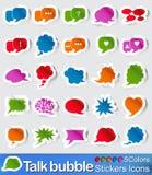 Значки стикеров пузыря беседы Стоковые Фото