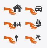Значки страхования Стоковая Фотография RF