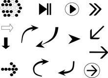 Значки стрелок Стоковые Изображения