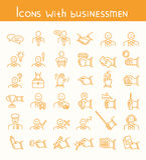 Значки с бизнесменами Стоковые Изображения RF