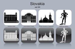 Значки Словакии Стоковое Изображение