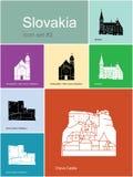 Значки Словакии Стоковое Фото