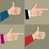 Значки с рукой Стоковое Изображение RF