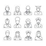 Значки с собранием профессий Стоковая Фотография RF