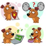Значки с частью 12 собак иллюстрация штока