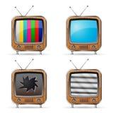 Значки ТВ Стоковое Фото