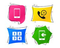 Значки телефона Символ поддержки центра телефонного обслуживания вектор бесплатная иллюстрация