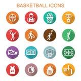 Значки тени баскетбола длинные Стоковые Фото