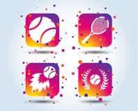 Значки теннисного мяча и ракетки любые могут размер потери лавра изображения иллюстрации вычисленный по маштабу разрешением vecto иллюстрация штока