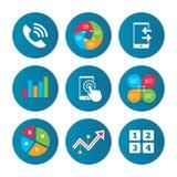 Значки телефона Символ поддержки центра телефонного обслуживания Стоковые Фото