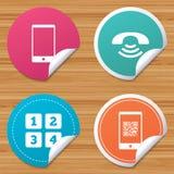 Значки телефона Символ поддержки центра телефонного обслуживания Стоковые Фотографии RF