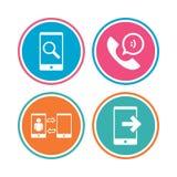 Значки телефона Символ поддержки центра телефонного обслуживания Стоковое фото RF