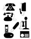 Значки телефона Стоковое Изображение RF