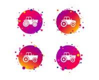 Значки трактора Аграрный переход индустрии вектор бесплатная иллюстрация