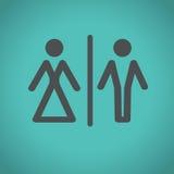 Значки туалета, иллюстрация вектора Стоковое Фото
