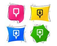 Значки указателя карты Положение дома, еды и потребителя вектор бесплатная иллюстрация