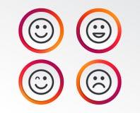 Значки улыбки Стороны счастливых, унылых и wink Стоковые Фотографии RF