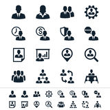 Значки управления человеческих ресурсов иллюстрация штока