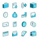 Значки финансов и экономики Стоковая Фотография RF