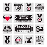 Значки фитнеса Стоковые Фото
