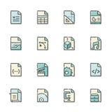 Значки формата файла Стоковые Изображения