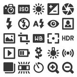 Значки фотографии установленные на белую предпосылку вектор Стоковое фото RF