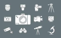 Значки фото и видеооборудования - установите сеть и чернь 02 бесплатная иллюстрация