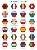 Значки флага футбола иллюстрация вектора