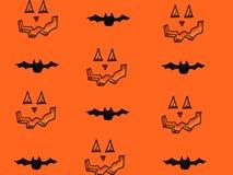 Значки хеллоуина с тыквами и летучими мышами Стоковое Изображение RF