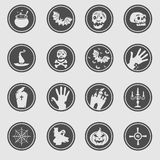 Значки хеллоуина Стоковое фото RF