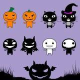 Значки хеллоуина Стоковое Изображение RF