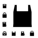 Значки хозяйственной сумки Стоковая Фотография RF