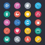 Значки цвета здравоохранения простые бесплатная иллюстрация