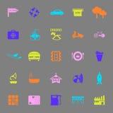 Значки цвета места карты на серой предпосылке бесплатная иллюстрация
