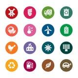 Значки цвета охраны окружающей среды Стоковое Фото